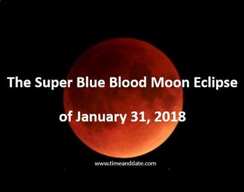 The Total Lunar Eclipse of January 31, 2018