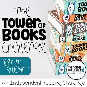 """Reading Log Alternative! """"Tower of Books"""" {An Independent Reading Challenge}"""