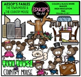 The Town Mouse And The Country Mouse Clip Art Bundle {Educlips Clipart}