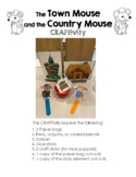 The Town Mouse and the Country Mouse CRAFTivity & Comparison Venn Diagram