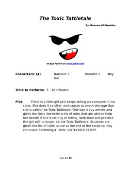 The Toxic Tattletale - Small Group Reader's Theater