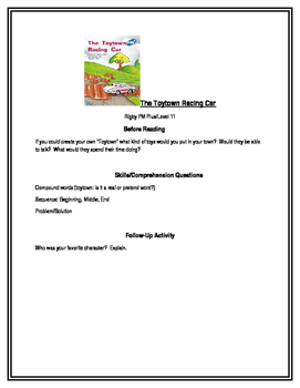 The Toytown Racing Car for Guided Reading (Rigby PM Plus Level 11)