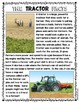 {Tractor Facts} Informational Reading & Text Dependent Questions