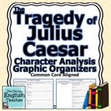 The Tragedy of Julius Caesar Character Analysis Graphic Organizers