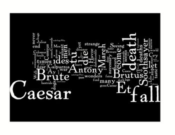 """The Tragedy of Julius Caesar"" Shakespeare Literature Art Prints"