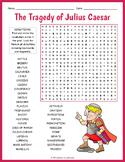The Tragedy of Julius Caesar Word Search Worksheet
