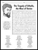 The Tragedy of Othello Word Search Worksheet