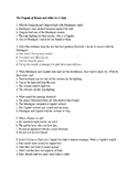 The Tragedy of Romeo and Juliet Act I Quiz