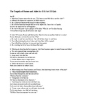 The Tragedy of Romeo and Juliet Act II & Act III Quiz