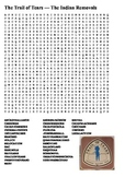 The Trail of Tears — The Indian Removals Word Search