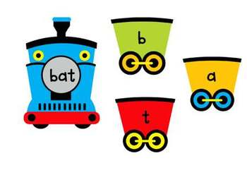 """The Train Goes ..."" Phonemic Awareness Train Activity #septslpmusthave"