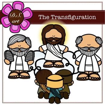 The Transfiguraton Digital Clipart (color and black&white)