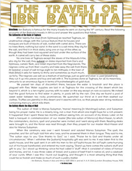 The Travels of Ibn Battuta Primary Source Reading