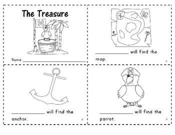 """""""The Treasure"""" Predictable Easy Reader"""
