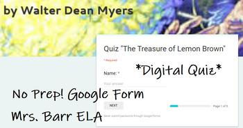 The Treasure of Lemon Brown Digital Assessment *No Prep! *Google Form