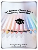The Treasure of Lemon Brown Lesson Plan, Worksheets, Questions w/ Key