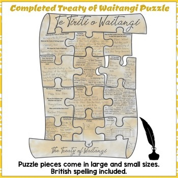 The Treaty Of Waitangi Reading Comprehension Scavenger Hunt Puzzle Year 3 and 4