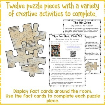 The Treaty Of Waitangi Reading Comprehension Scavenger Hunt Puzzle Year 7 and 8