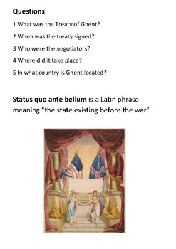 The Treaty of Ghent Handout