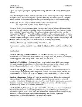 AP US History Period 7: The Treaty of Versailles Debate
