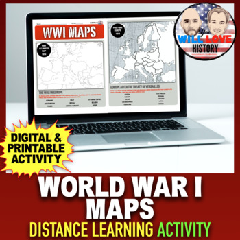 World War I Maps Activity