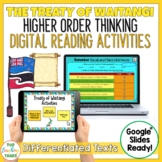 The Treaty of Waitangi Digital Reading Comprehension Activity for Google Slides