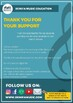The Treble and Bass Clef Notes on the Piano A3 size poster
