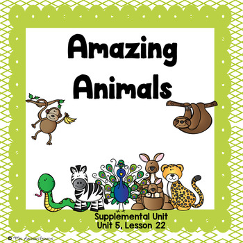 Amazing Animals- First Grade Supplemental Unit