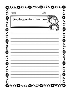 """The Tree House"" Journal Activity Pack"