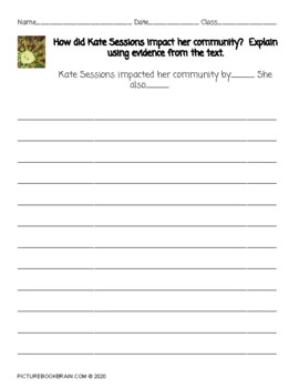 The Tree Lady by H. Joseph Hopkins 4-5 Day Lesson Plan and Activities