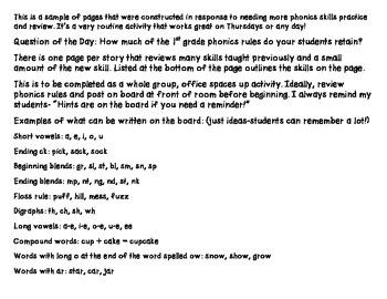 The Tree from Poppleton Forever 1st Grade Unit 5 Lesson 21 Phonics/Spell Check