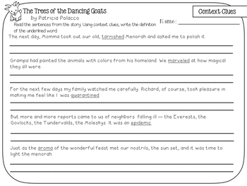 The Trees of the Dancing Goats Holiday Book Companion