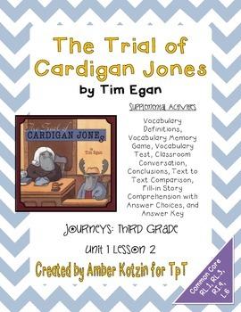 The Trial of Cardigan Jones Activities 3rd Grade Journeys