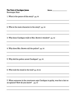 The Trial of Cardigan Jones, Journeys (3rd Grade) Unit 1 Lesson 2