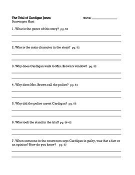 The Trial of Cardigan Jones, Journeys (3rd Grade) Unit 1 Lesson 2