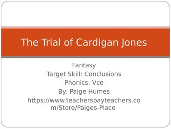 The Trial of Cardigan Jones PPT Journeys Lesson 2