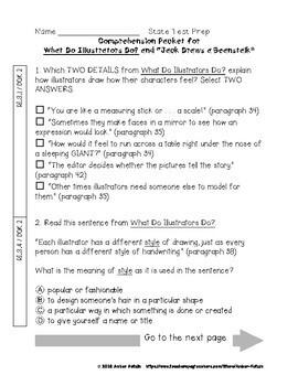 What Do Illustrators Do? State Test Prep - 3rd Grade Journeys