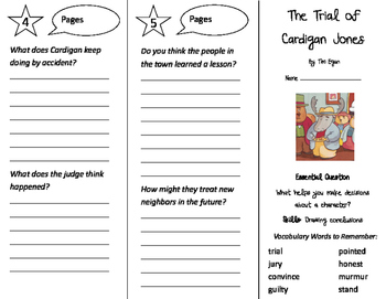 The Trial of Cardigan Jones Trifold - Journeys 3rd Grade Unit 1 Week 2 (2011)