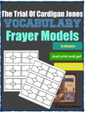 The Trial of Cardigan Jones Vocabulary Frayer Models
