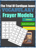 The Trial of Cardigan Jones Vocabulary Frayer Models