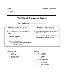 The Trial of Julius Caesar - Project