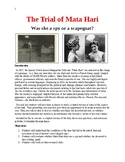The Trial of Mata Hari:  Was she a spy or a scapegoat?