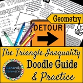 The Triangle Inequality Doodle Guide & Practice Worksheet; Geometry, Range