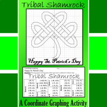 St. Patrick's Day - Tribal Shamrock - A Coordinate Graphin