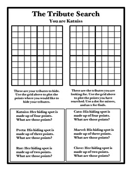 The Tribute Search Coordinate Graphing Game