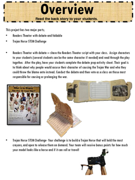The Trojan Horse: A Reader's Theater/STEM Activity