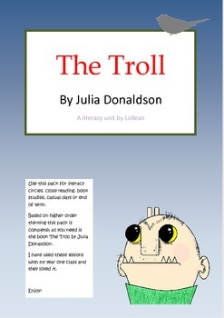 The Troll Julia Donaldson Literacy Circle activities close reading HOT