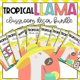 The Tropical Llamas Classroom Decor Bundle