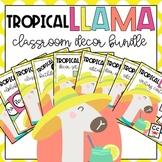 The Tropical Llamas Classroom Decor Bundle