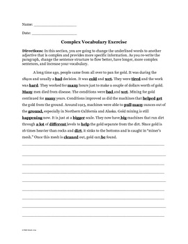 """The Trouble with """"And"""" + Complex Vocabulary Exercise"""